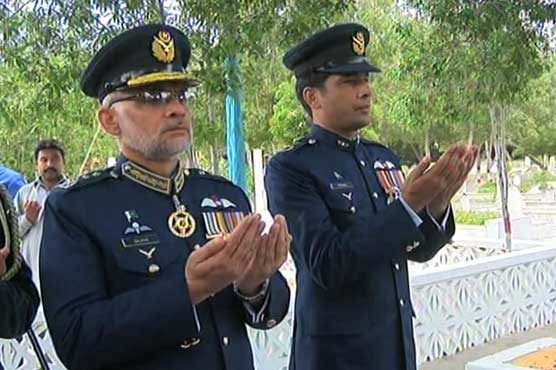 Air vice marshal visits rashid minhas resting place for Air force decoration points