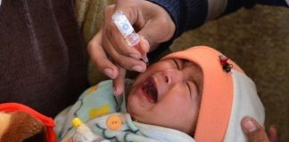 50 children faint after administering polio drops in Peshawar