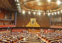 Pandemonium in NA as opposition, govt lawmakers exchange heated words