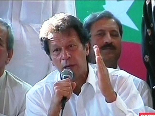 Imran Khan addressing news conference
