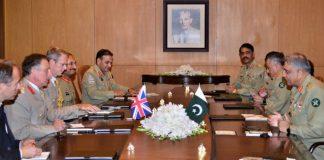 Pakistan-UK Army Chiefs meeting