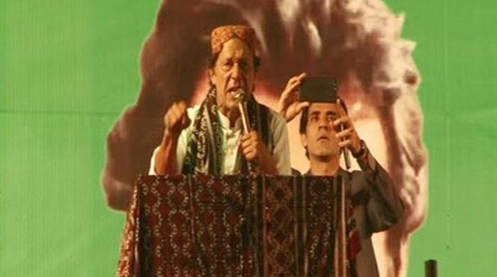 Imran Khan addressing at Ghotki rally