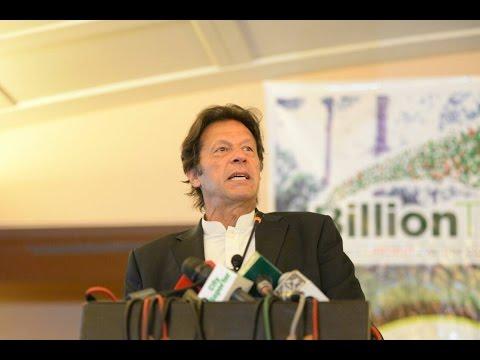 Imran Khan addressing Billion Tree Tsunami cerenomy
