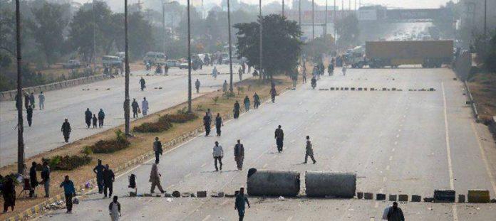 Tehrik-e-Labbaik sit-in at Faizabad Interchange in Islamabad