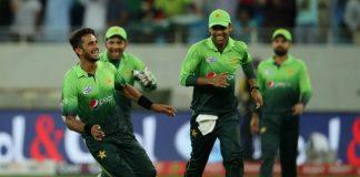 Hassan Ali celebrates