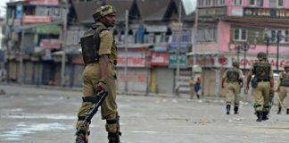 Kashmiris observing shutdown against sham polls in IOK