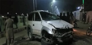 Two, killed, six injured as car ploughs into pedestrians in Larkana