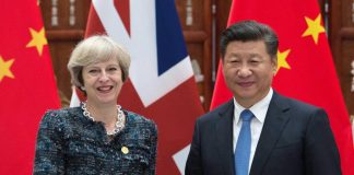 May arrives in China eyeing post-Brexit trade links
