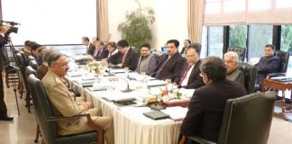 PM Khaqan Abbasi chairs National Security Committee meeting