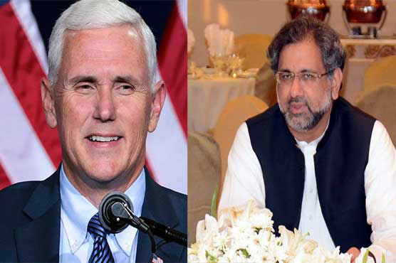 PM Abbasi meets US Vice President Mike Pence
