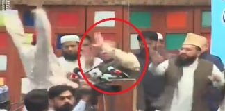 PML-N suffers another humiliation as shoe hurled at Nawaz Sharif