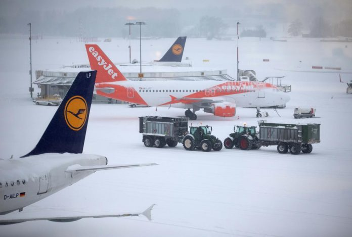 Geneva airport closed by icy'beast from the east'
