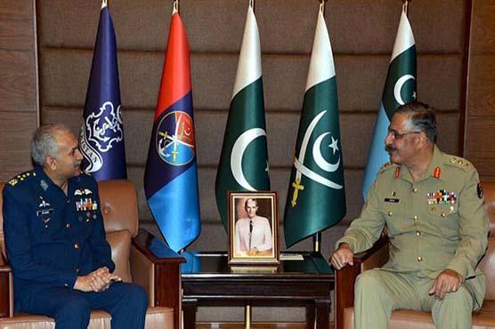Air chief Mujahid Anwar calls on CJCSC General Zubair