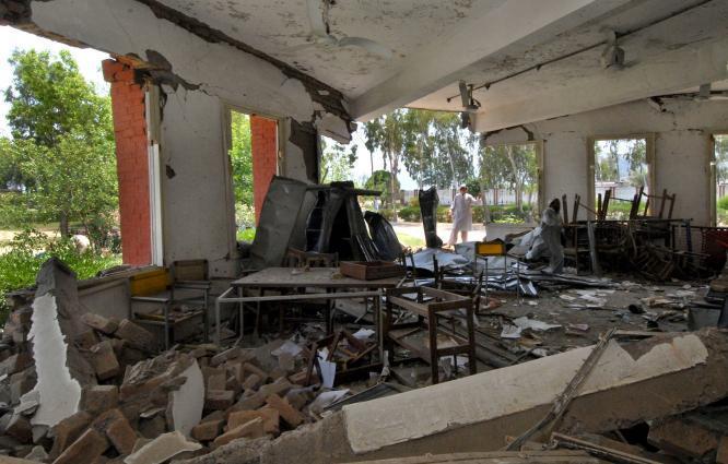 School building damaged in IED blast in North Waziristan