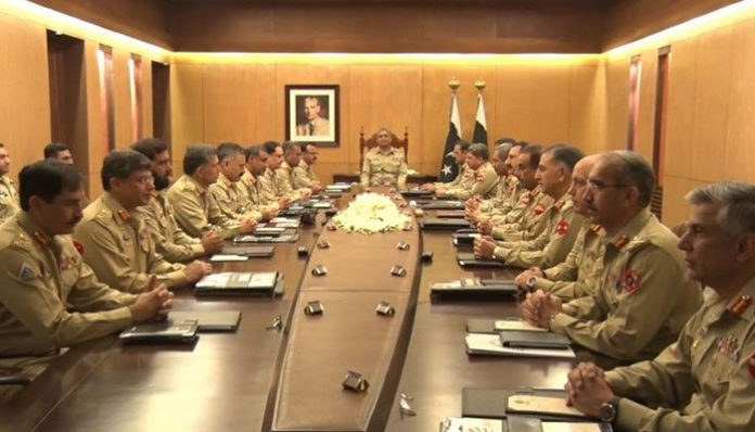 Corps Commanders review assistance to ECP for transparent conduct of polls
