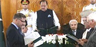 Two new caretaker federal ministers take oath
