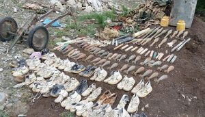 Security forces recover huge cache of weapons in South, North Waziristan