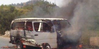 Six passengers dead as van catches fire in Kohat