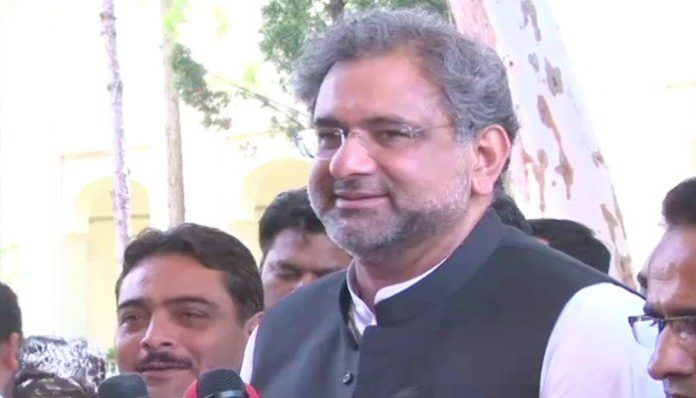 Shahid Khaqan Abbasi records statement before NAB in LNG case