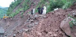 Five killed in landslide on passenger van in Azad Kashmir