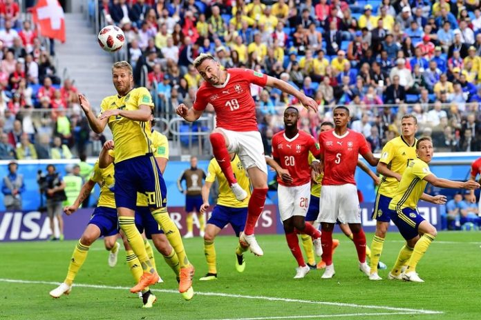 Sweden beat Switzerland 1-0 to reach World Cup quarter-finals