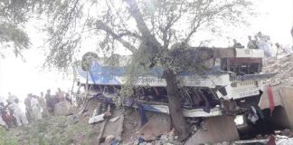KOHAT: The death toll from Kohat road accident between passenger bus and oil tanker has reached to 18 as two more injured succumbed to their wounds at hospital, hospital sources said. Moreover, 43 people including women and children have also sustained injuries in the accident on Indus Highway near Lachi area in Kohat here on Saturday, police sources said. The road accident took place near Samari area of Kohat. The passenger bus was en route to Karachi from Buner. Rescue members immediately rushed to the site of the incident. The injured have been shifted to District Headquarters Hospital. The deceased included two women and two minors, police said. Rescue members immediately rushed to the site of the incident and shifted the bodies and wounded persons to District Headquarters Hospital.
