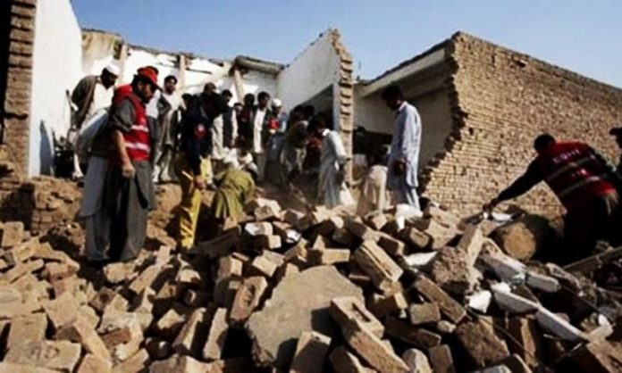 Primary school partially damaged in terrorist attack in Chitral