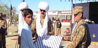 Pak Army hands over homes, shops of model village in Mashkai, Awaran: ISPR