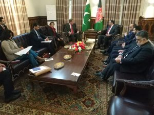 Foreign Minister Qureshi calls on Afghan President Ghani in Kabul