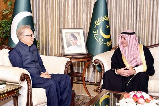 Saudi Governor calls on President Alvi, PM Khan