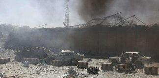 Four killed, 90 injured in car bomb blast near security compound in Kabul