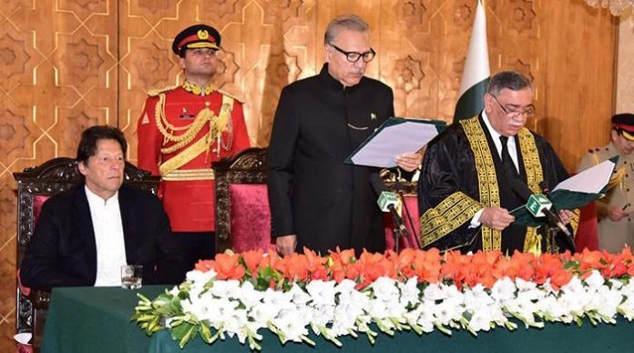 CJP Asif Saeed Khosa's oath-taking challenged in PHC