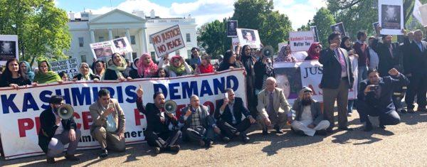 Kashmiris protest outside White House against India