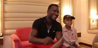 Young cancer survivor meets his hero, Darren Sammy