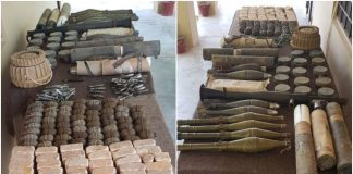 Security forces recover cache of arms, explosives from Balochistan