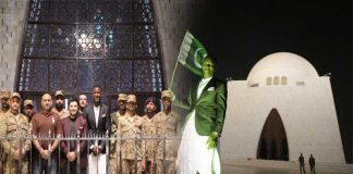 Darren Sammy visits Quaid's mausoleum in Karachi