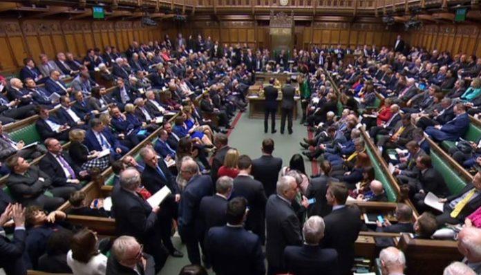 British parliament vote for a Brexit postponement of at least three months