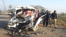 Four killed in collision between car and coach near Fateh Jang