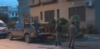 Cop martyred, five terrorists killed in Peshawar operation