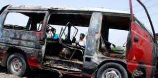 Five killed in CNG cylinder blast near Kashmore toll plaza