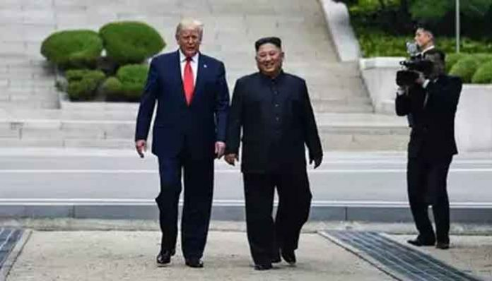 Trump steps into North Korea, in historic first