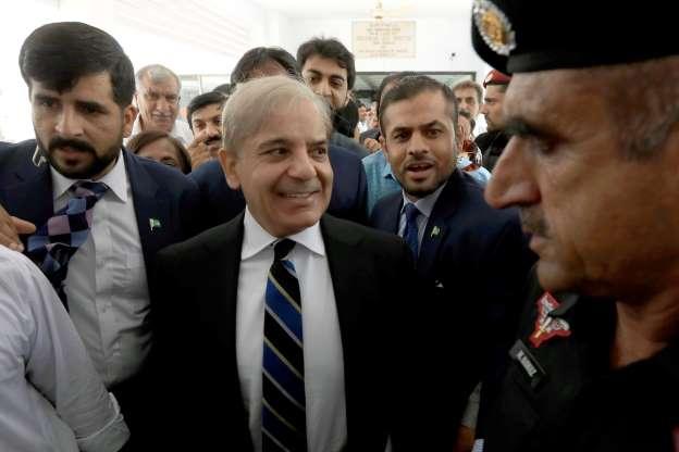 Opposition leader Shehbaz Sharif reaches Pakistan