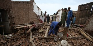 Four family members killed in roof collapse incident in Peshawar
