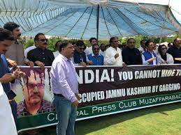 Journalists march towards LoC against Indian atrocities in occupied Kashmir