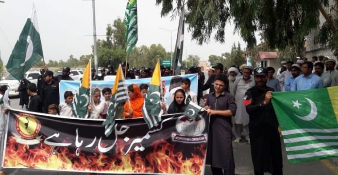 Rallies held in tribal districts to express solidarity with Kashmiri people