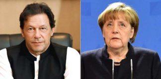 PM Imran, German Chancellor Merkel discuss Indian actions in occupied Kashmir