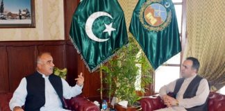 Afghan envoy Atif Mashal calls on KP Governor Shah Farman