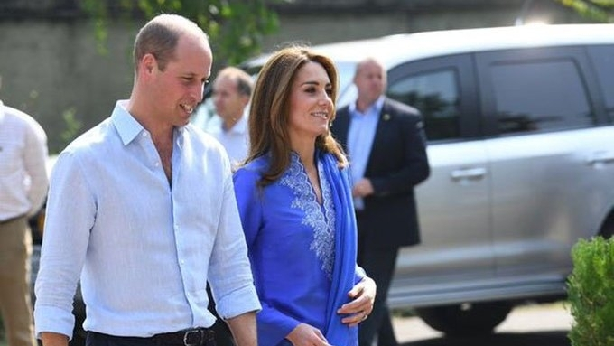 British royal couple William and Kate arrive in Lahore