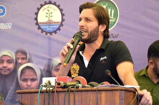 Shahid Afridi says helping the needy is his top priority