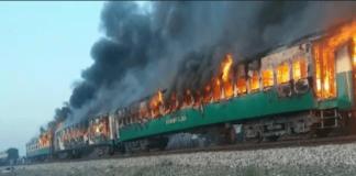 Death toll mounts to 65 from Tezgam train inferno near Rahim Yar Khan